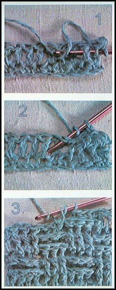 Différents Points Au Crochet